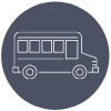 line icon of school bus