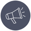Line icon of megaphone
