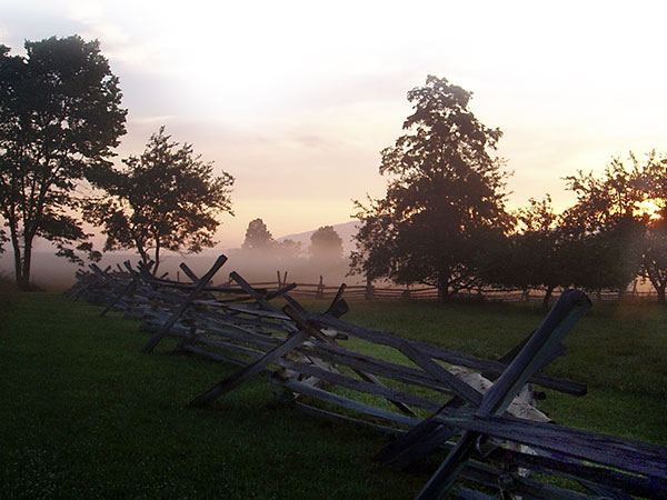 Virginia Museum of the Civil War Battlefield Mist