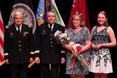 A group photo of Brig. Gen. Bob Moreschi and his family.